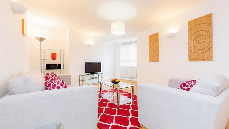 Living room at Kew Bridge Court Furnished Apartments