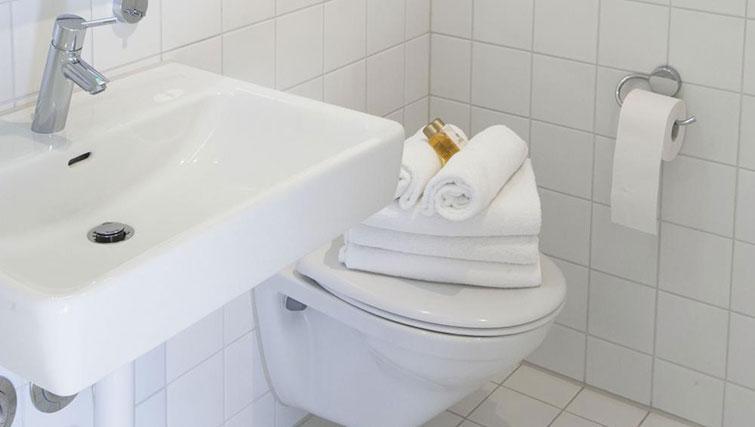 Bathroom at Erlenmattstrasse 12 Apartments