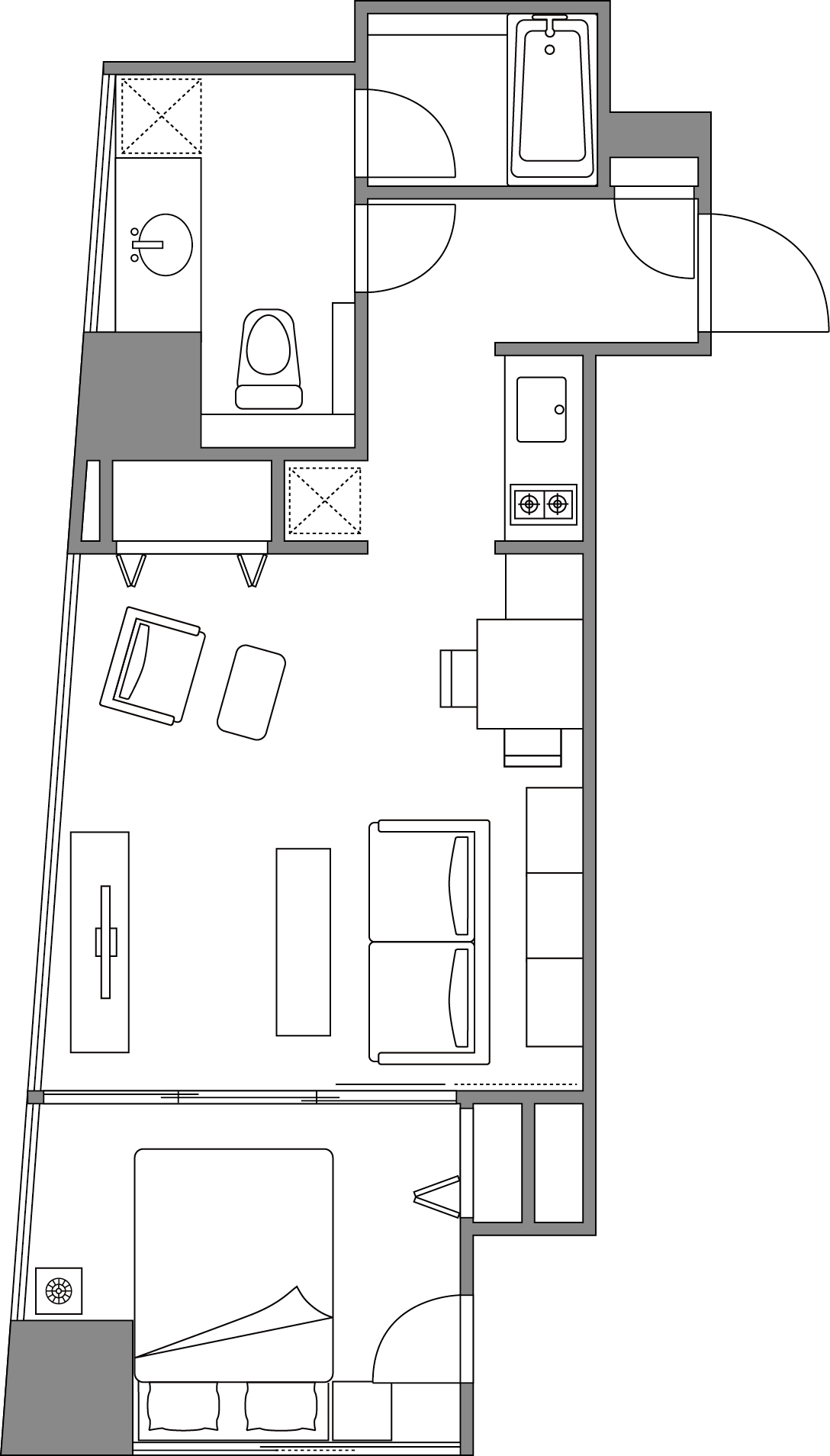 Floor plans at Somerset Ginza East Apartments
