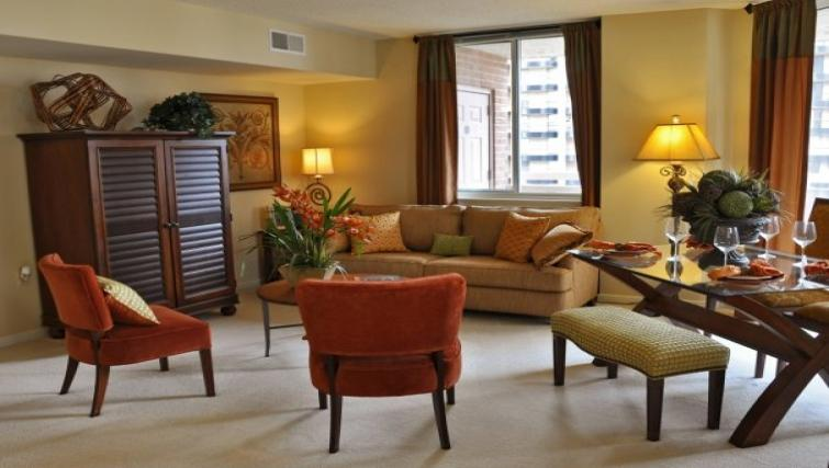 Living area at Meridian at Pentagon City