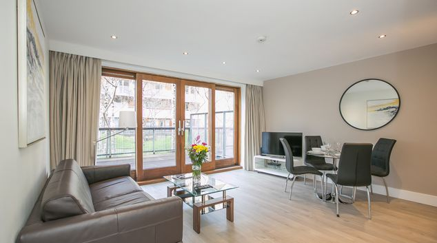 Living area at IFSC - Clarion Quay Apartments