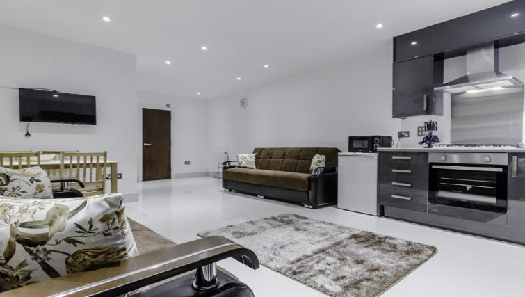 Living area at Citygate Apartments