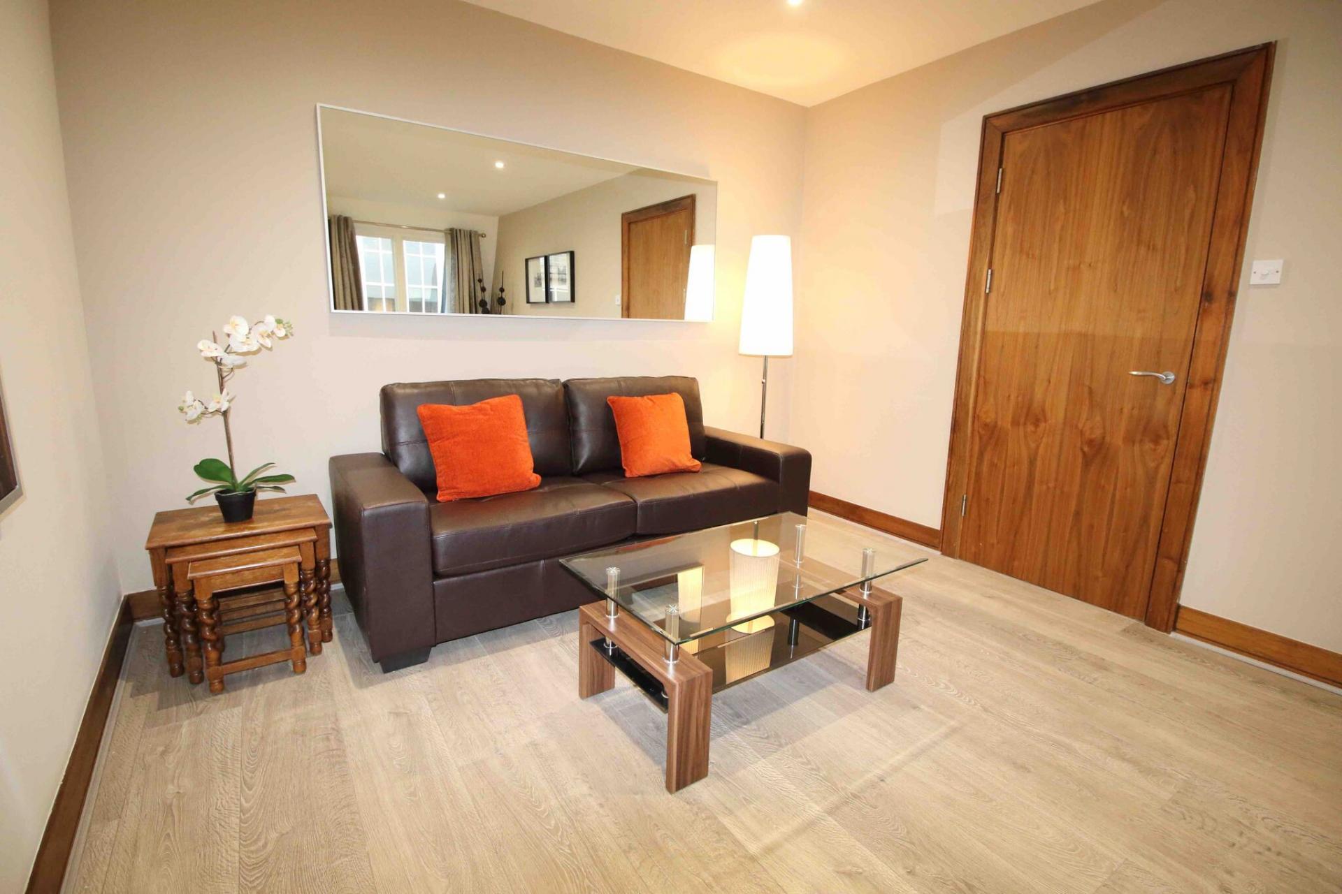 Sofa at O'Connell Bridge Apartments, Centre, Dublin