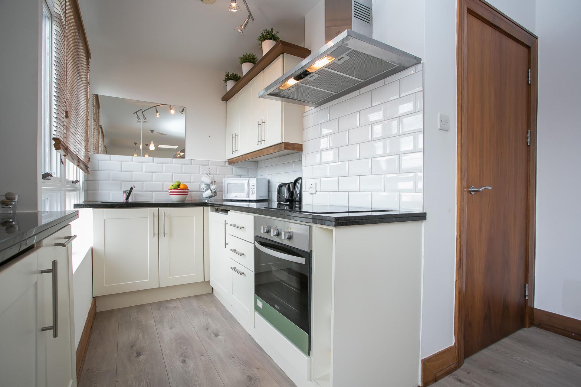 Modern kitchen at O'Connell Bridge Apartments, Centre, Dublin