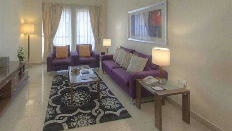 Gorgeous living area at Al Barsha Aparthotel
