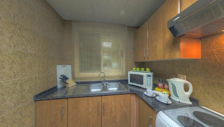 kitchen at Al Barsha Aparthotel