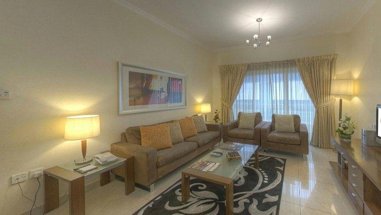 Living area  at Al Barsha Aparthotel