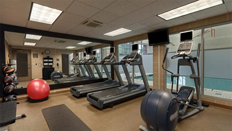 Fitness centre at Homewood Suites Harrisburg EastHershey