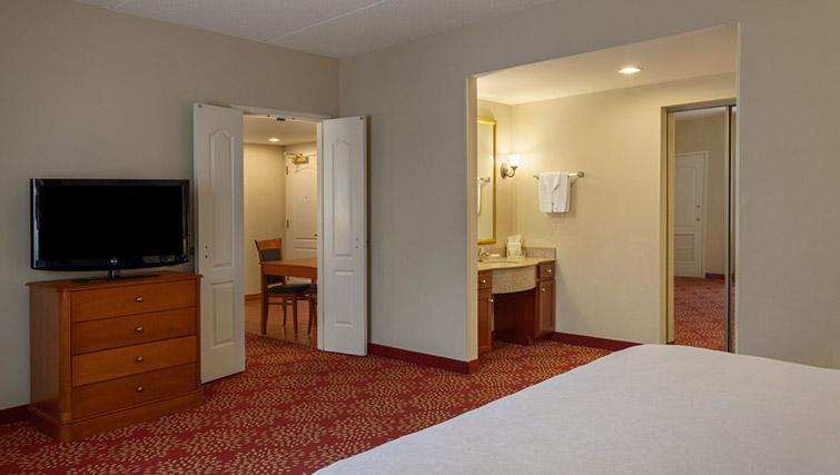 Bedroom at Homewood Suites Harrisburg EastHershey