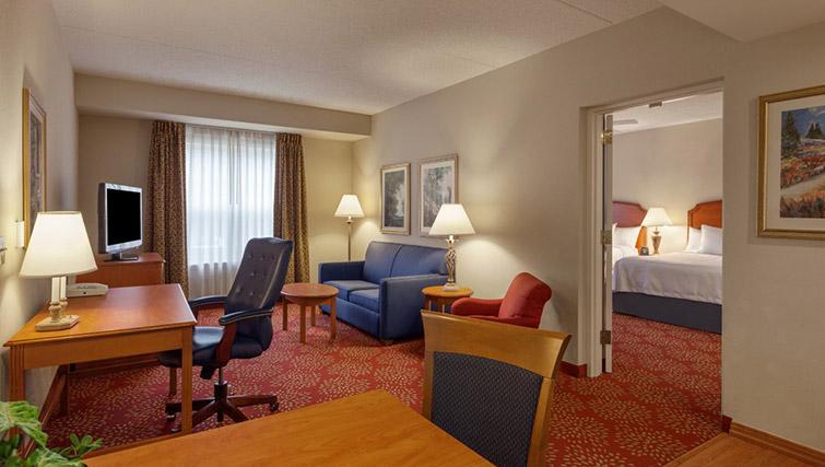 Living area at Homewood Suites Harrisburg EastHershey