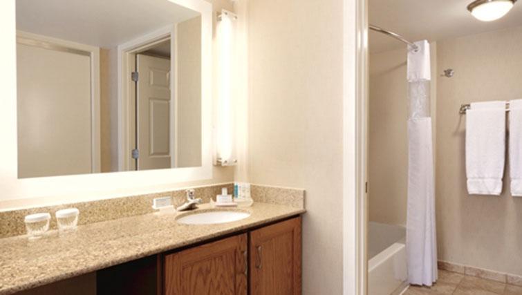 Bathroom at Homewood Suites Harrisburg-West Hershey