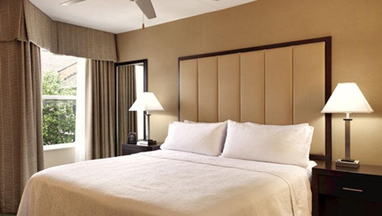 Bedroom at Homewood Suites Harrisburg-West Hershey