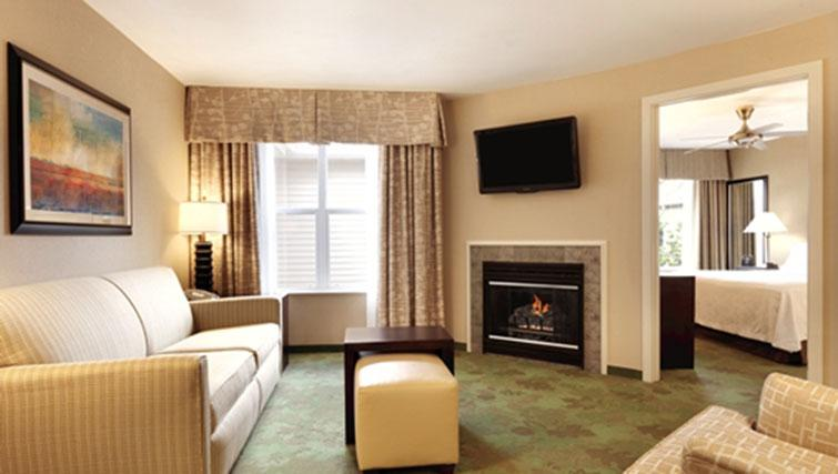 Living area at Homewood Suites Harrisburg-West Hershey