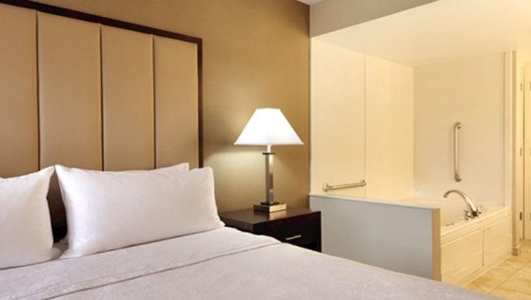 Double bed at Homewood Suites Harrisburg-West Hershey
