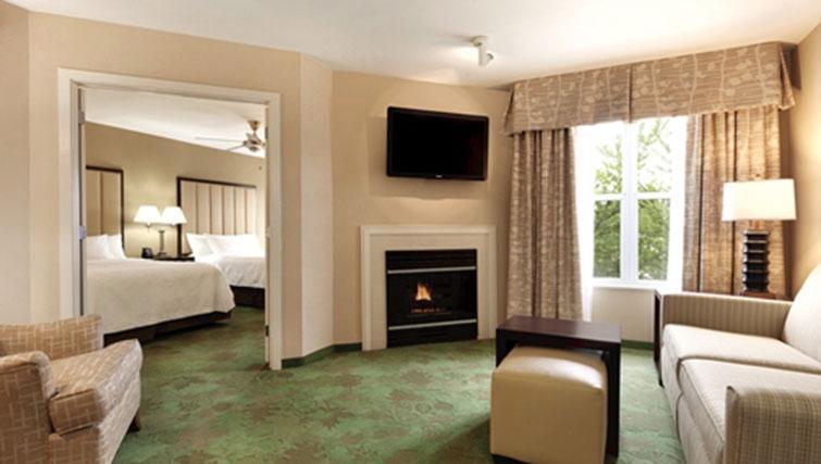 Living room at Homewood Suites Harrisburg-West Hershey