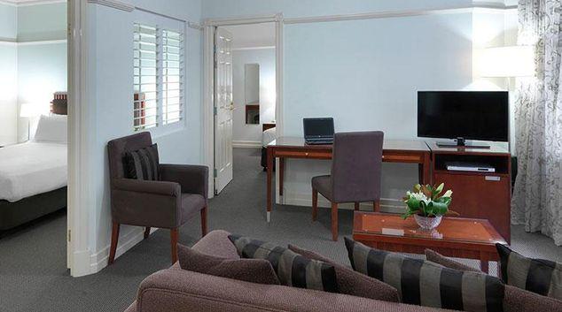 Living area at Adina Apartment Hotel Brisbane Anzac Square