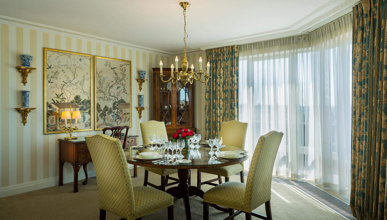 Deluxe dining area at Cheval Thorney Court