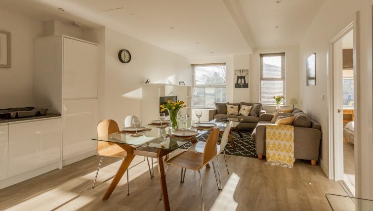 Dining space at Bury Fields House Apartments