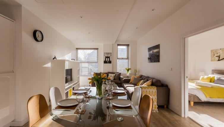 Living area of Bury Fields House Apartments
