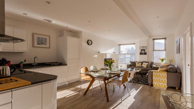 Open plan dining space at Bury Fields House Apartments