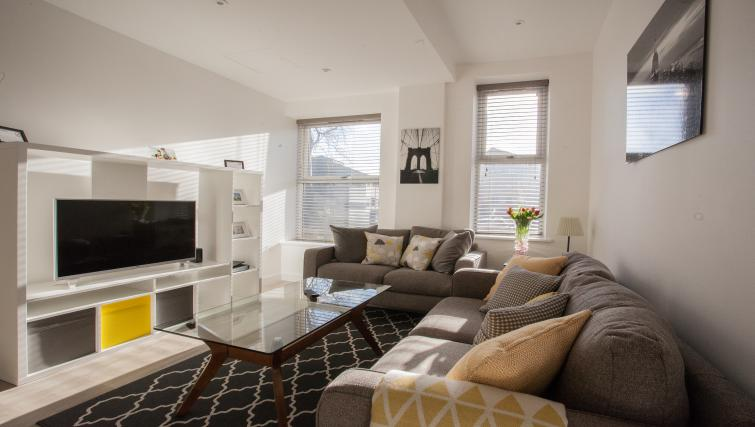 Bright living area at Bury Fields House Apartments