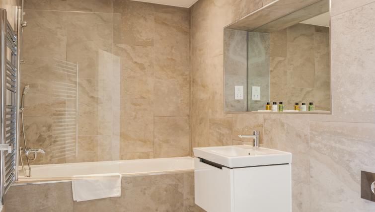 Stylish bathroom at Bury Fields House Apartments