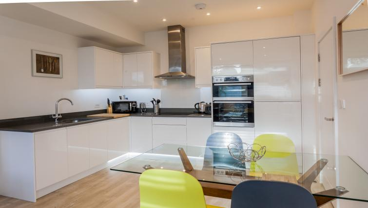 Equipped kitchen at Bury Fields House Apartments