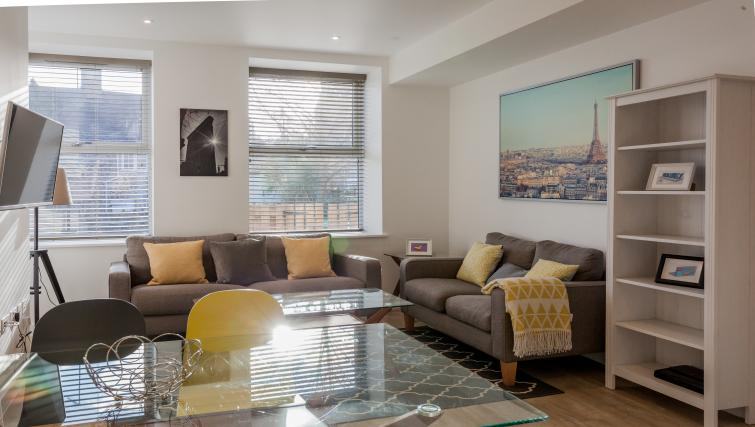 Living space at Bury Fields House Apartments