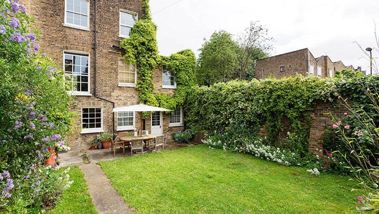 Back garden at Englefield Road House
