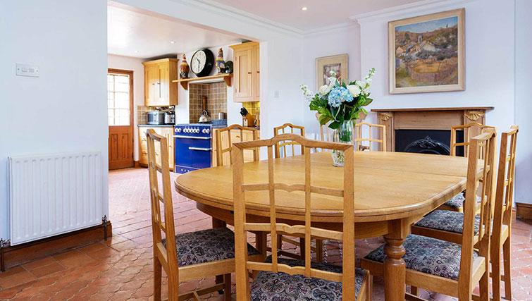 Dining table at Englefield Road House