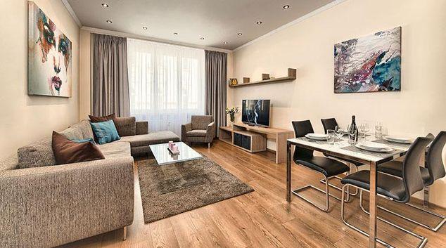 Living area at Konvikt Apartment
