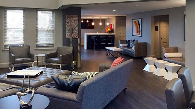 Living area at Andover House Apartments