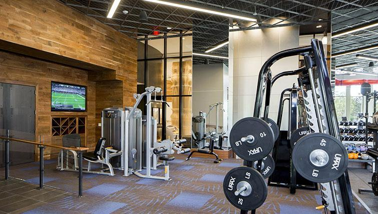 Fitness centre at The Bartlett Apartments