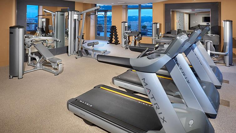Fitness centre at Metropolitan Park Apartments