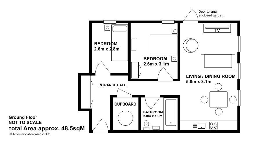 Floor plan at Camperdown House