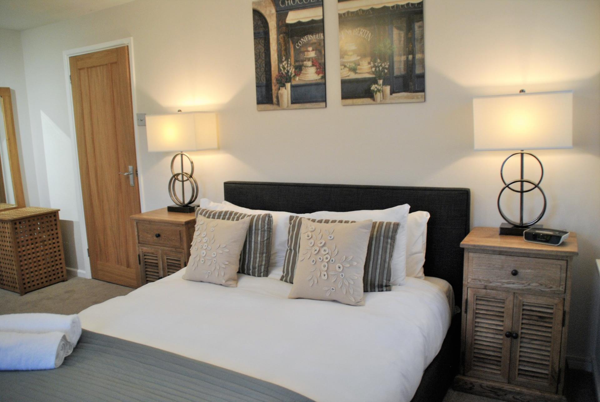 Modern bedroom at Camperdown House