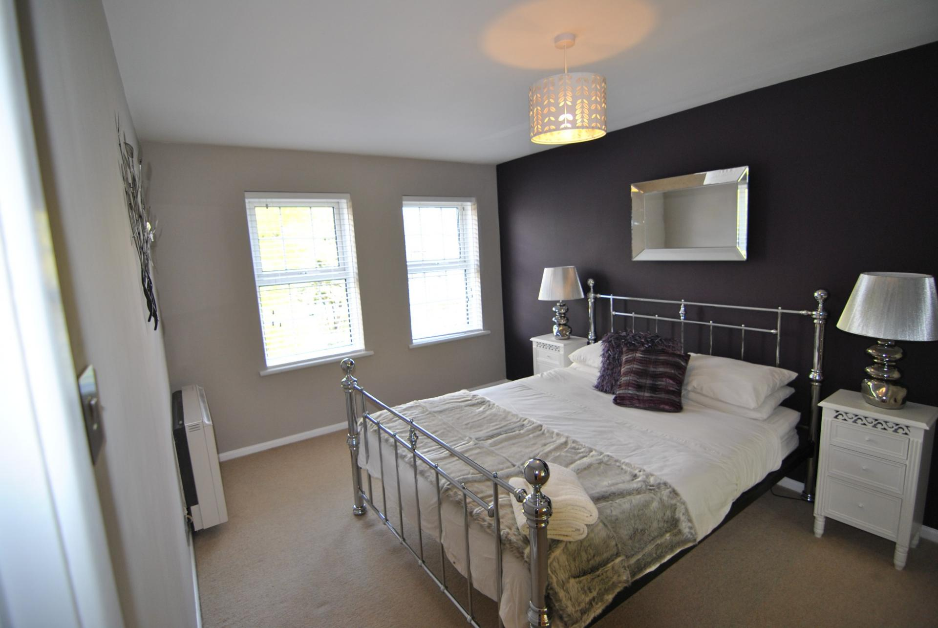 Stylish bedroom at Camperdown House