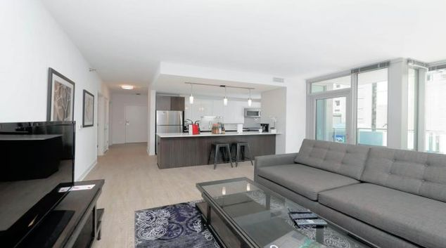 Living area at Mila Apartments