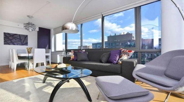 Stunning living area at 808 Columbus Avenue Apartments