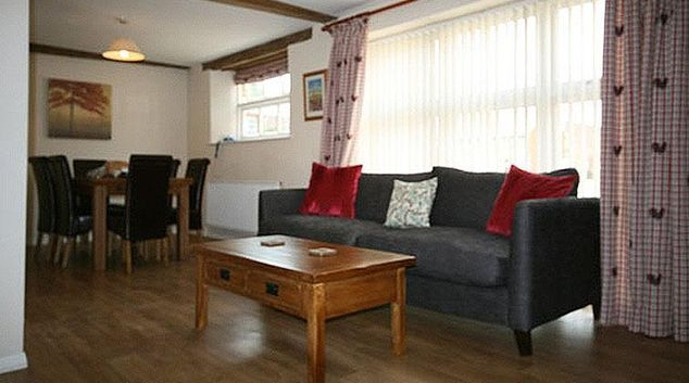 Living area at Cowman's Cottage