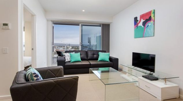 Living room at Astra Apartments Adelaide Vision