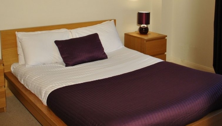 Intimate bedroom in West Tollcross Apartments