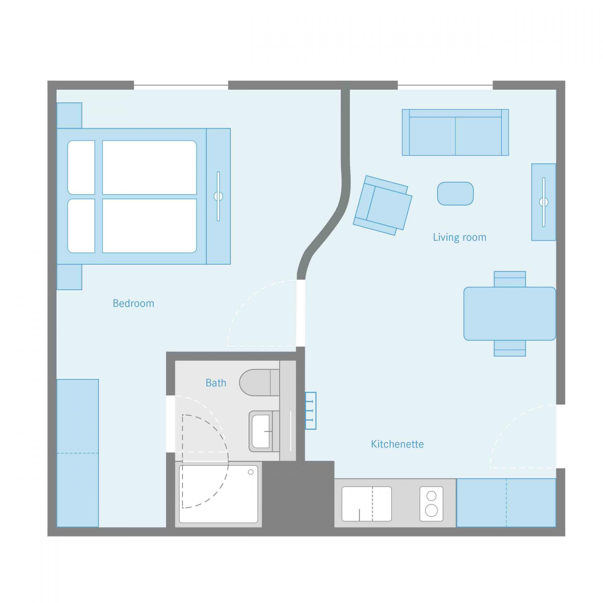 Apartment Floor Plan at the Munich Parkstadt Schwabing Apartments