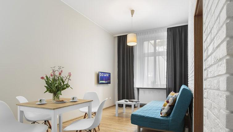 Living area at City Residence Łodź