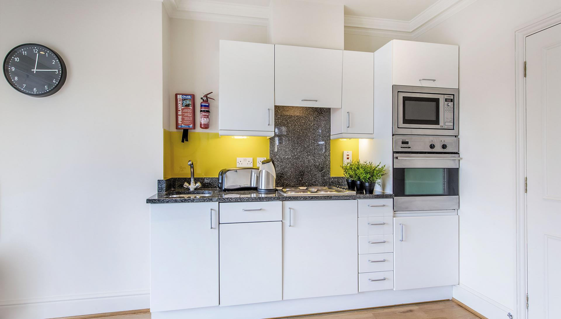Kitchen at Draycott Apartments