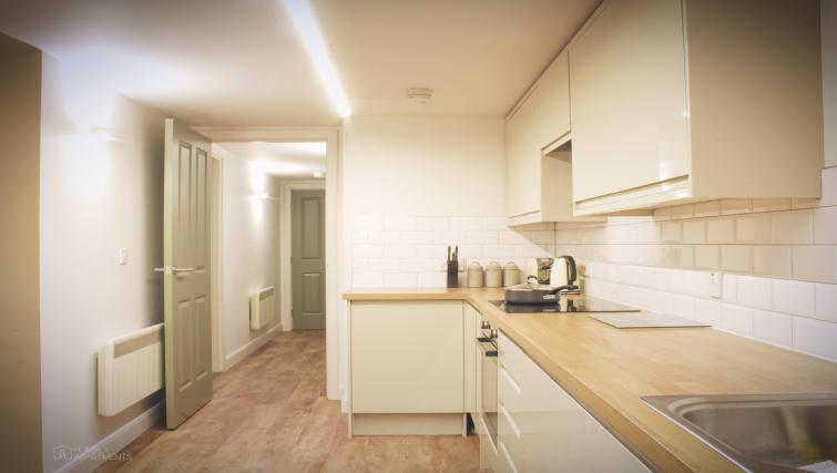 Kitchen area at Figtree Apartments