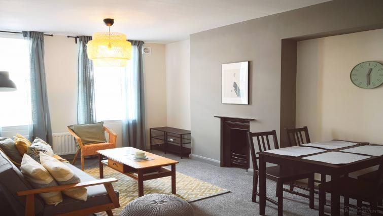 Spacious living area at Figtree Apartments