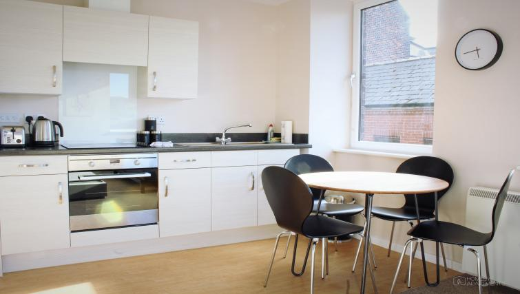 Kitchen space at Figtree Apartments