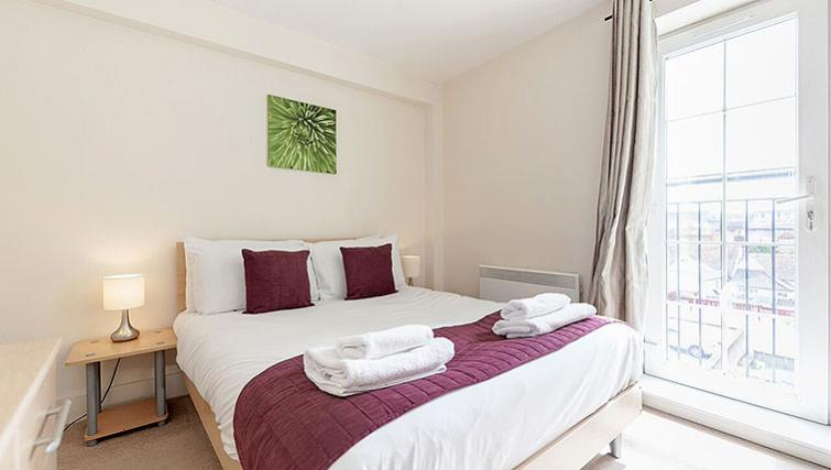 Spacious bedroom at Central Walk Apartments