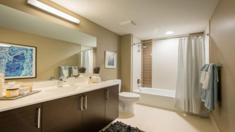 Bathroom at The Acadia at Metropolitan Park Apartments
